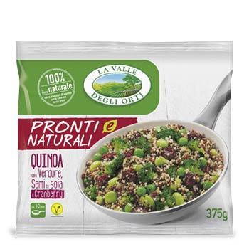 Quinoa con Verdure, Semi di Soia e Cranberry