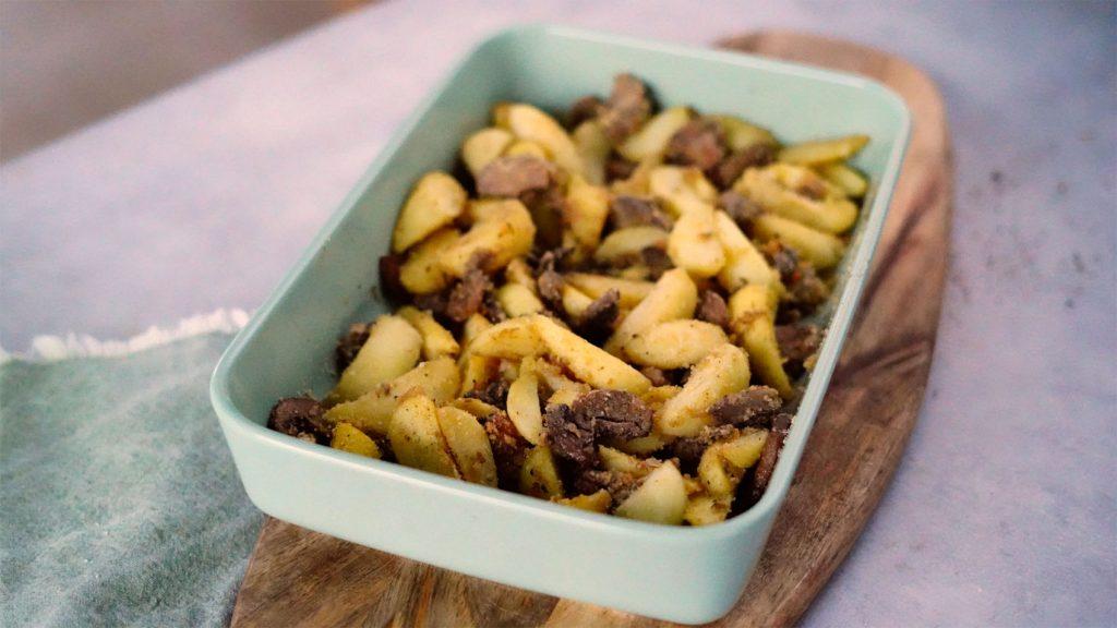 Patate e funghi al forno gratinati