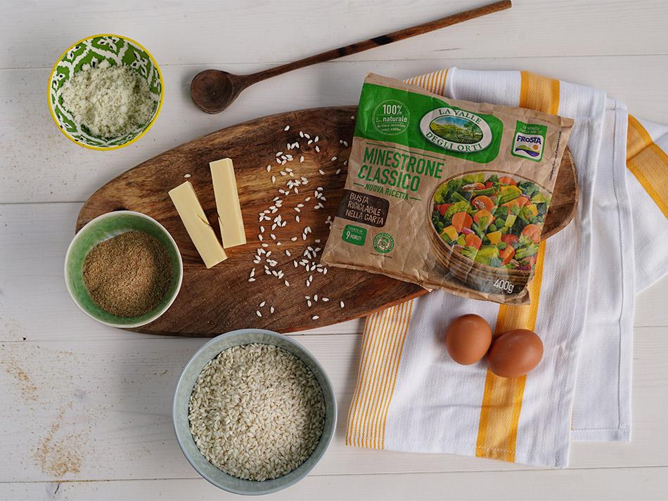 riso gratinato al forno con minestrone