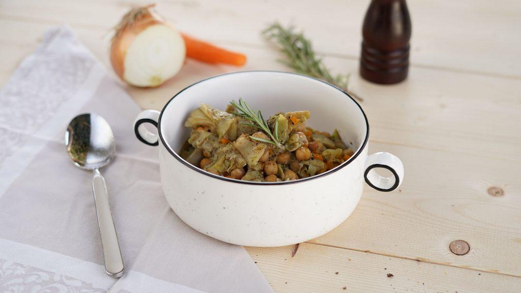 zuppa di carciofi e ceci