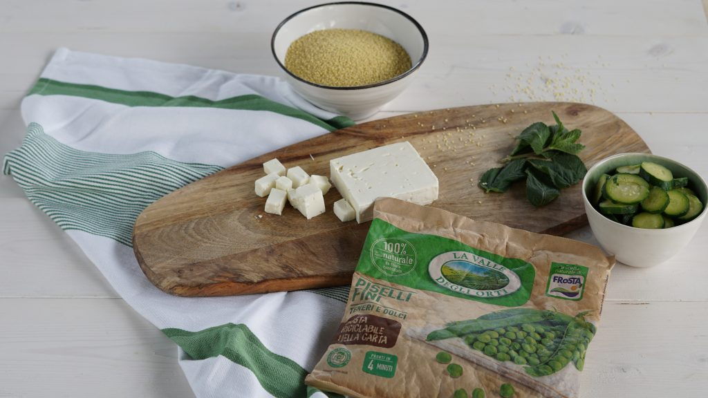 Cous Cous Piselli Zucchine Feta