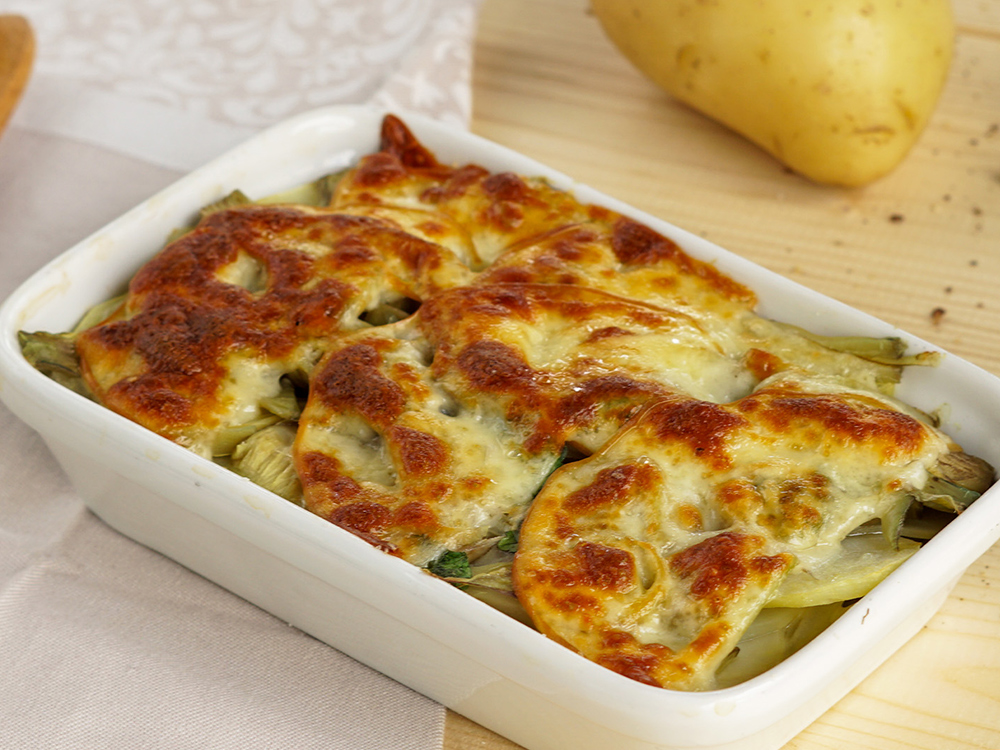 Milefoglie-patate-carciofi